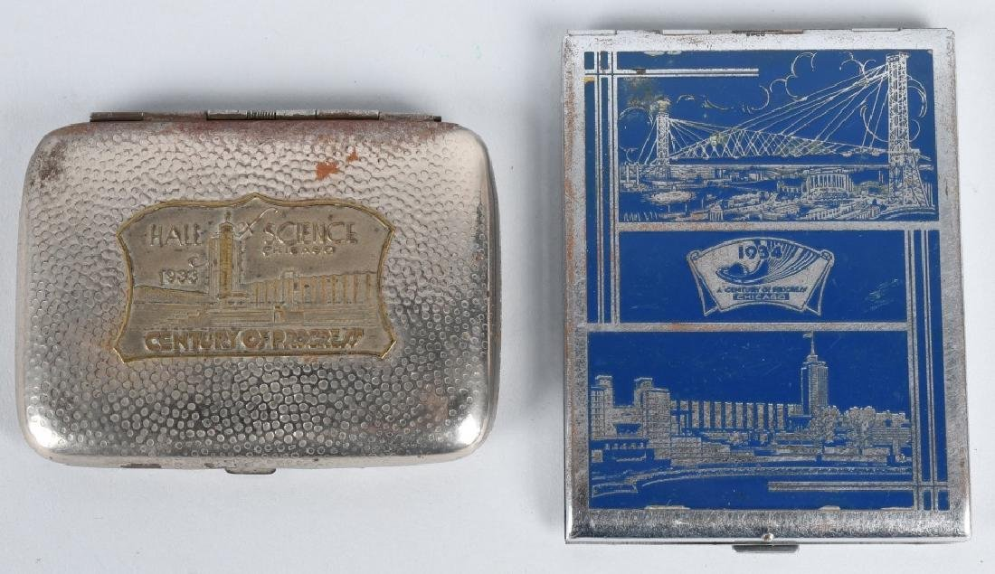 7- 1933 CHICAGO WORLDS FAIR CIGARETTE CASES - 5