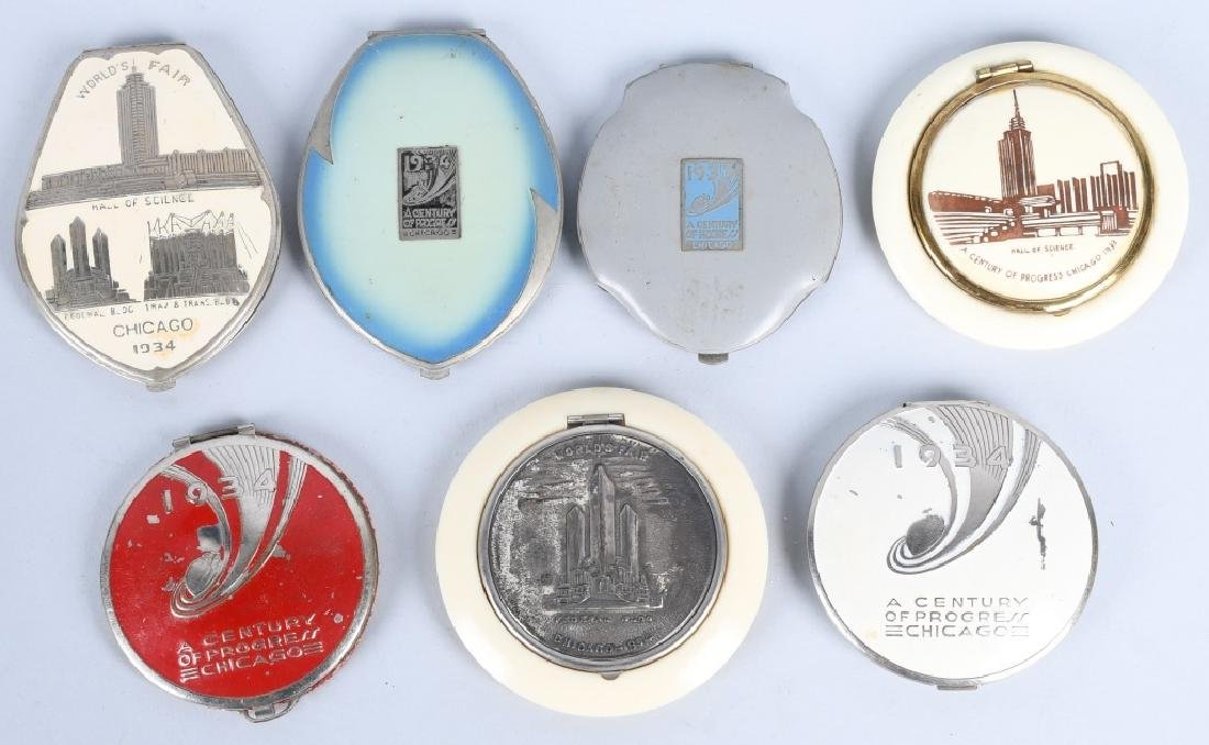 7- 1933 CHICAGO WORLDS FAIR COMPACTS