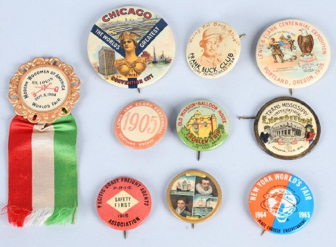 LEWIS & CLARK EXPOSITION BUTTONS & MORE