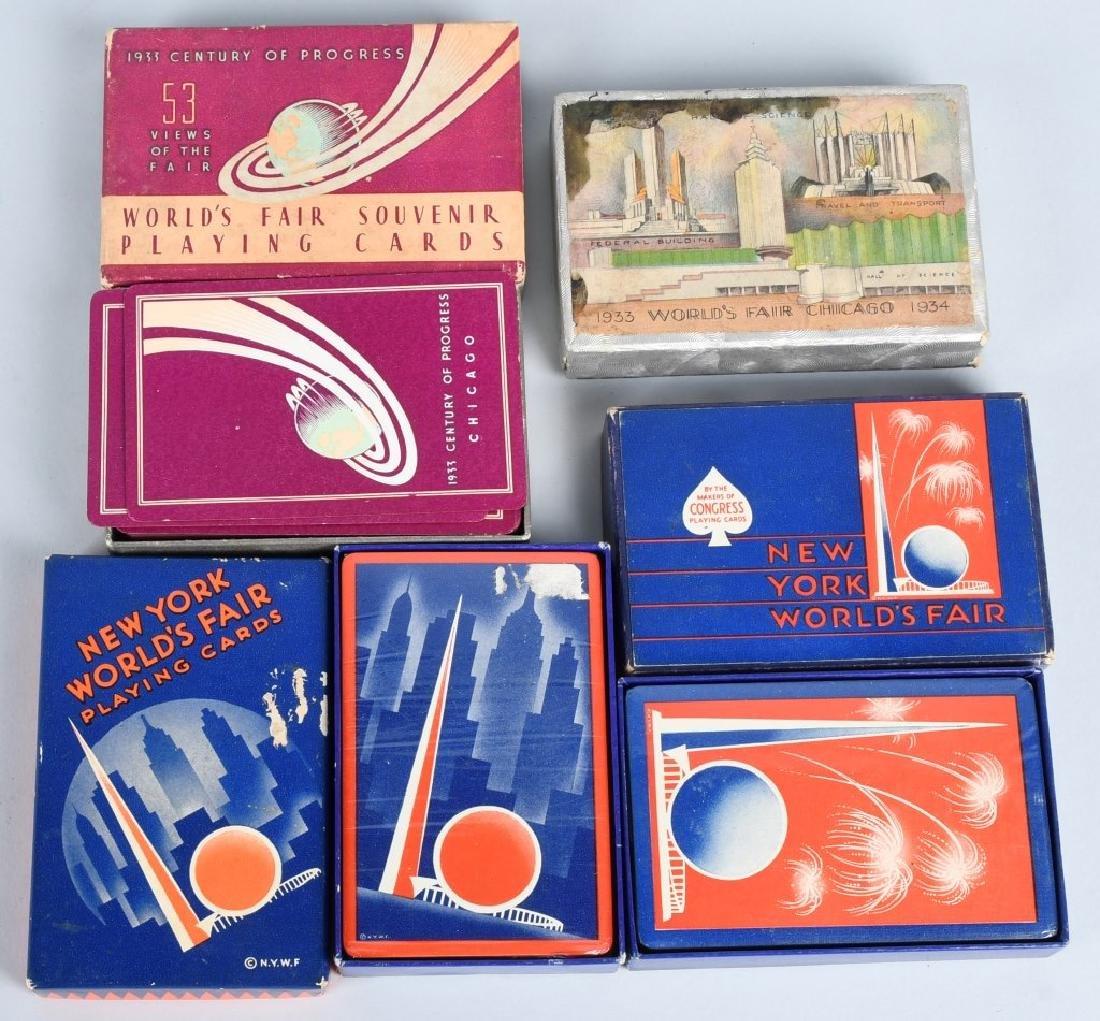 9- WORLDS FAIR DECKS OF PLAYING CARDS - 2