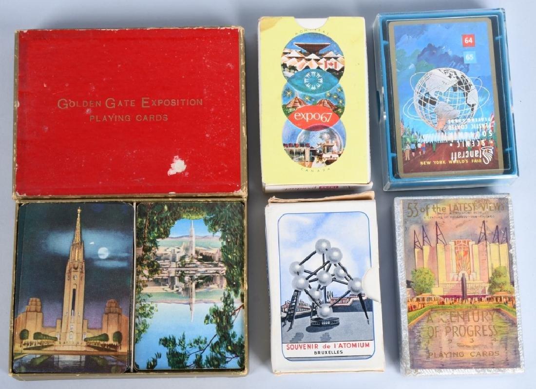 9- WORLDS FAIR DECKS OF PLAYING CARDS - 3