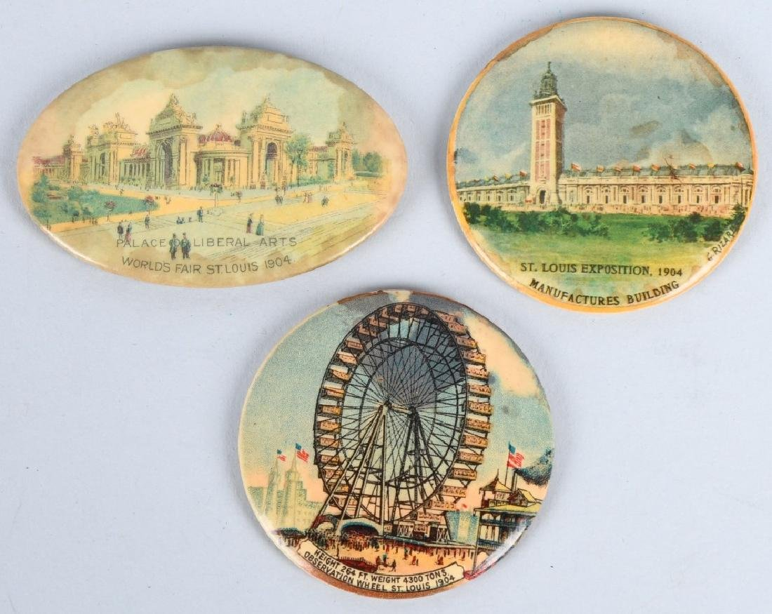 3- 1904 ST LOUIS EXPOSITION POCKET MIRRORS