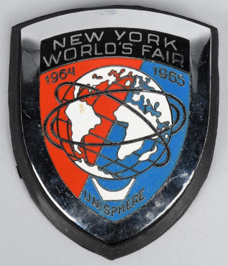 NEW YORK WORLDS FAIR CAR BADGE