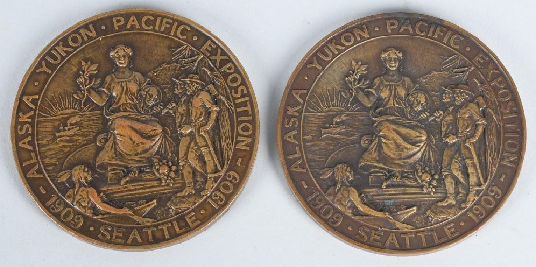 1909 ALASKA YUKON PACIFIC EXPO GOLD & SILVER MEDAL