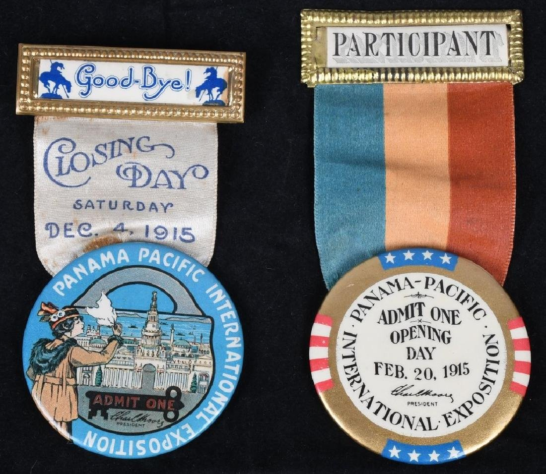 1915 PANAMA PACIFIC EXPOSITION BADGES
