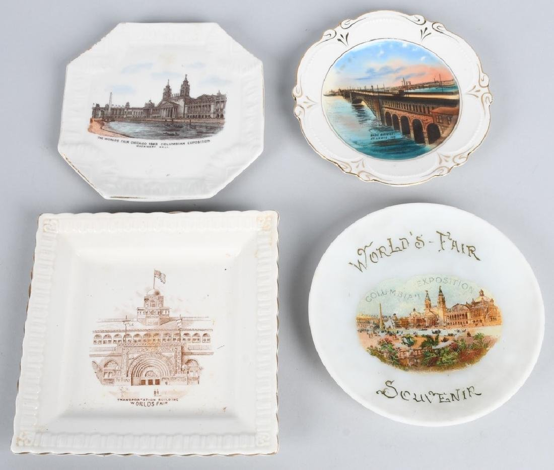 3- COLUMBIAN EXPOSITION PLATES & MORE