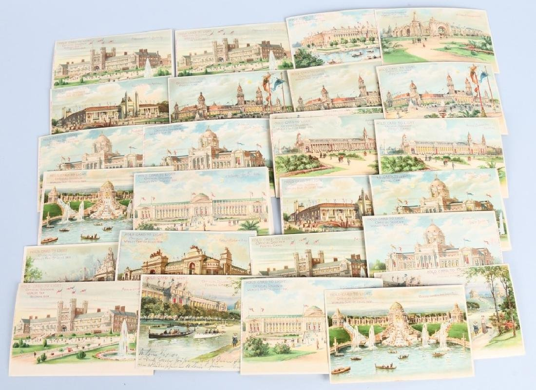 30- ST LOUIS WORLDS FAIR HOLD TO LIGHT POST CARDS