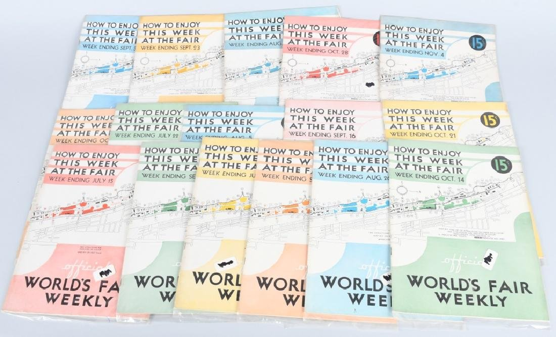 16- 1933 WORLDS FAIR WEEKLY PROGRAMS