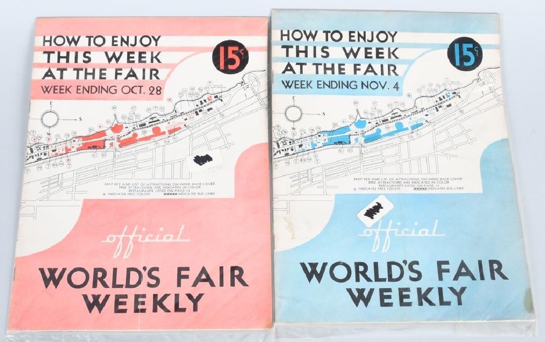 16- 1933 WORLDS FAIR WEEKLY PROGRAMS - 2