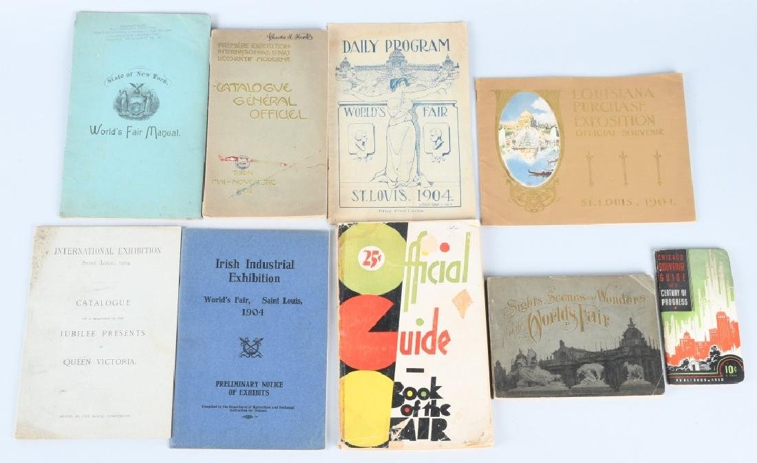 Lot of WORLDS FAIR & EXPOSITION BOOKS