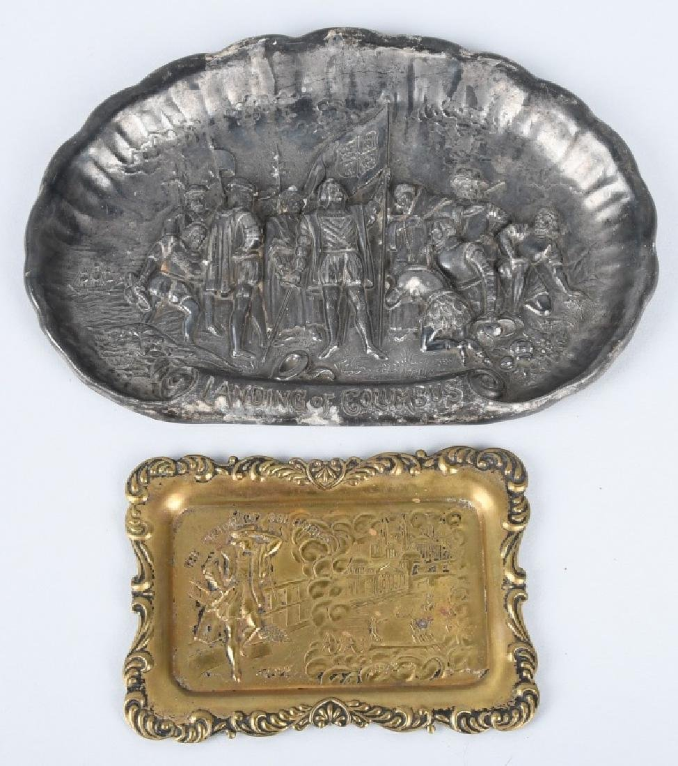 1893 COLUMBIAN EXPO LANDING OF COLUMBUS TRAYS