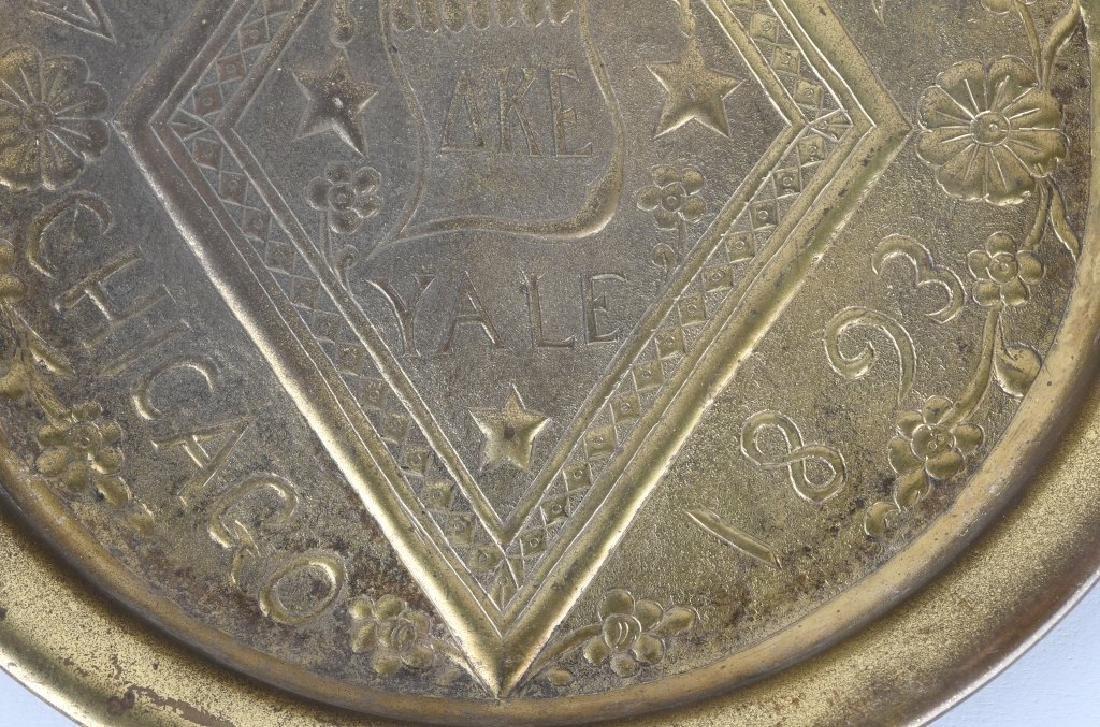 1893 WORLDS FAIR YALE DELTA KAPPA EPSILON TRAY - 3