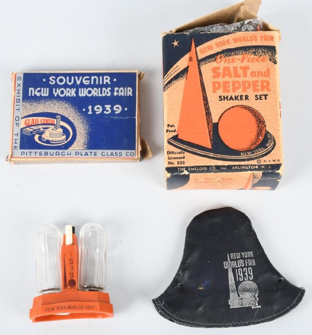 4- 1939 NEW YORK WORLDS FAIR SOUVENIRS