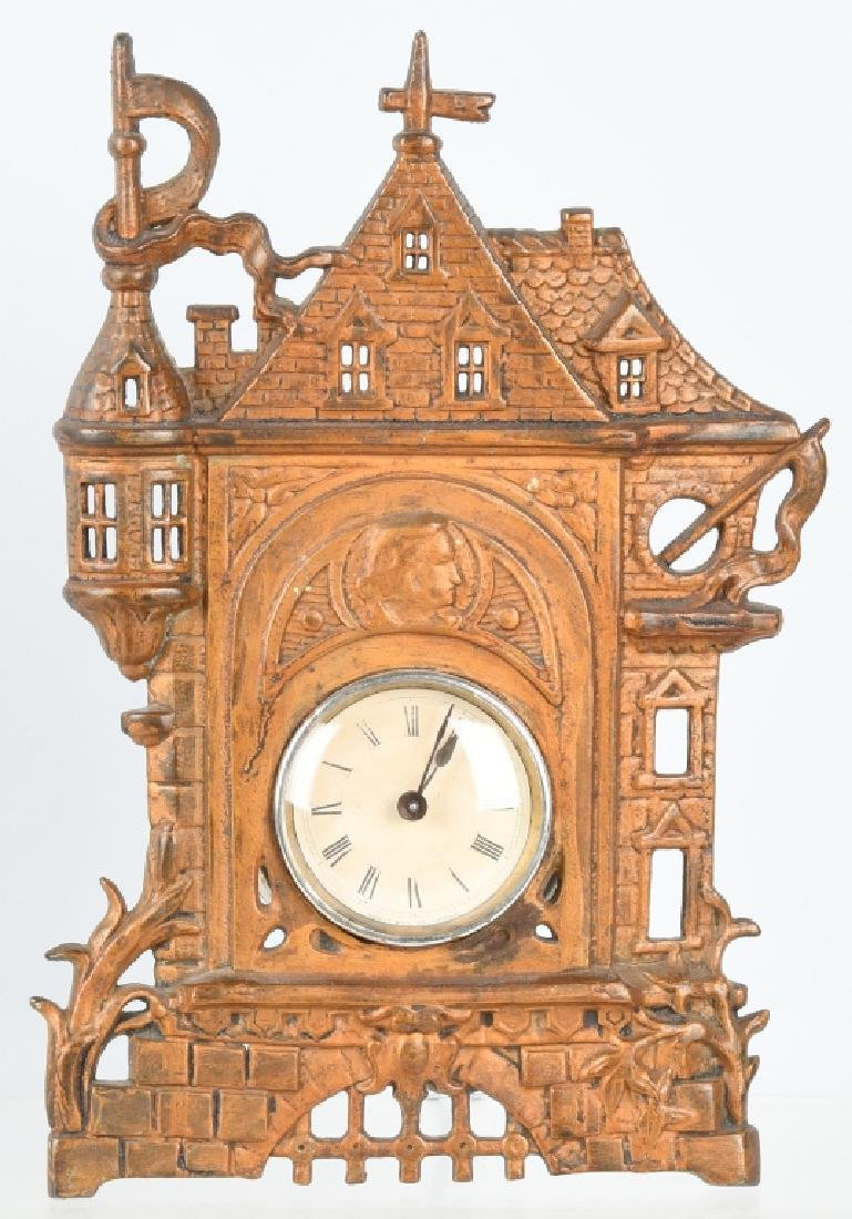 COLUMBIAN EXPOSITION BUILDING CAST IRON CLOCK