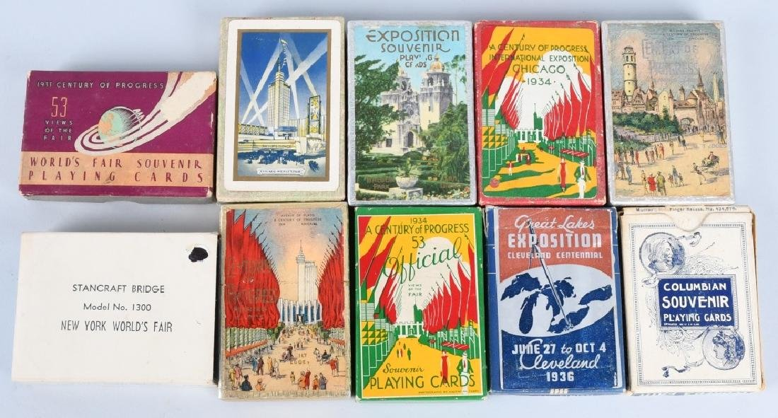 10- WORLDS FAIR & EXPOSITION PLAYING CARDS
