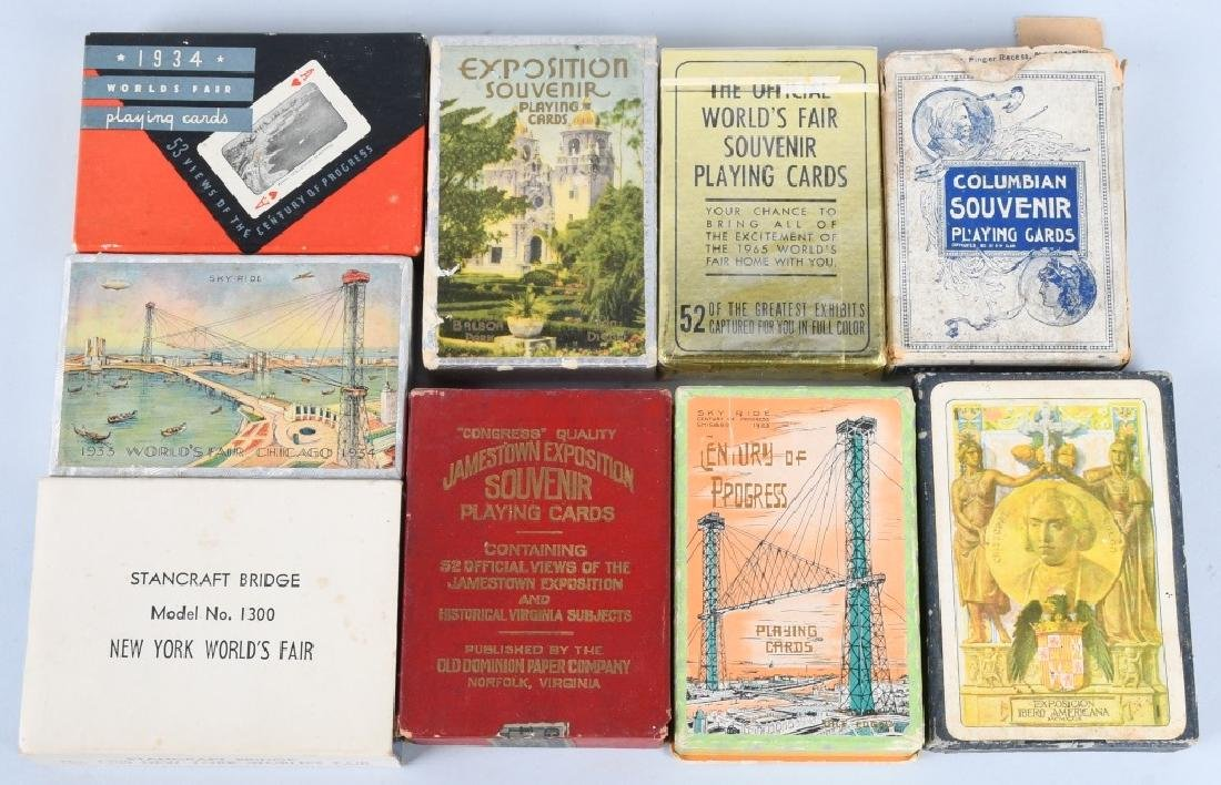 9- WORLDS FAIR & EXPOSITION PLAYING CARDS