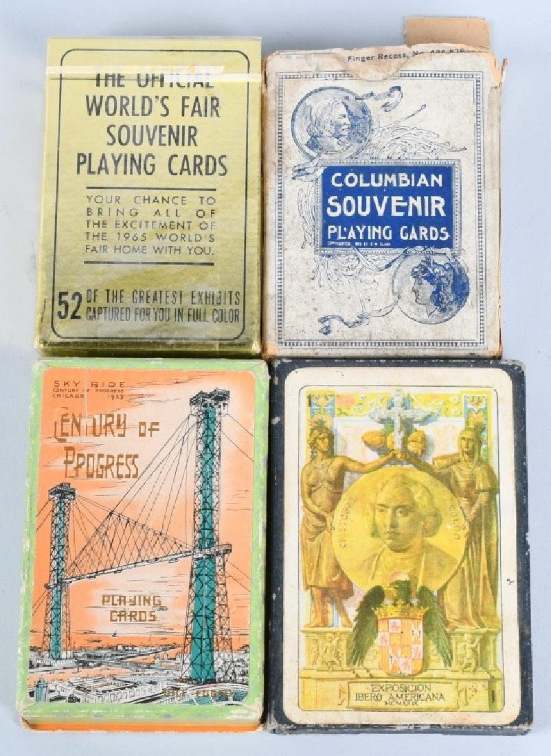 9- WORLDS FAIR & EXPOSITION PLAYING CARDS - 2
