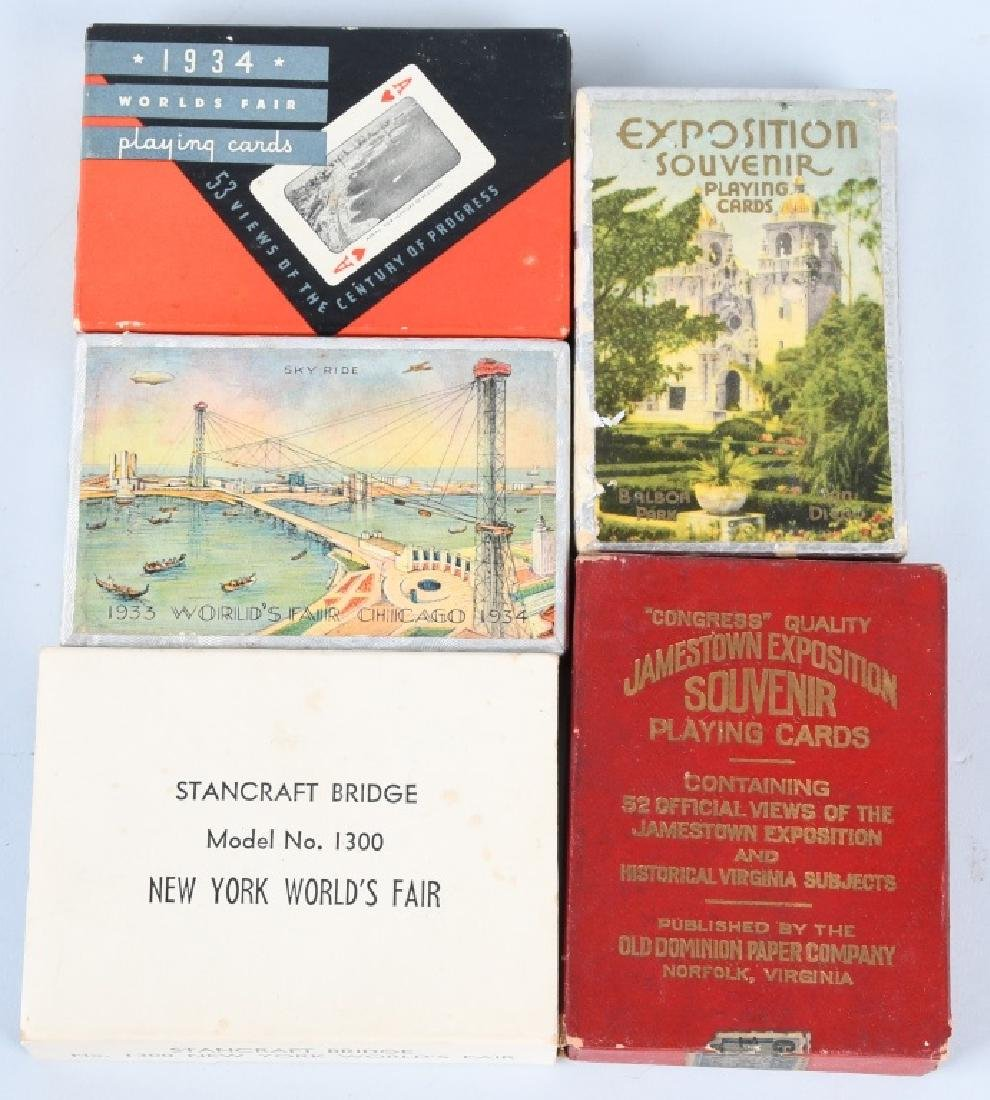 9- WORLDS FAIR & EXPOSITION PLAYING CARDS - 3