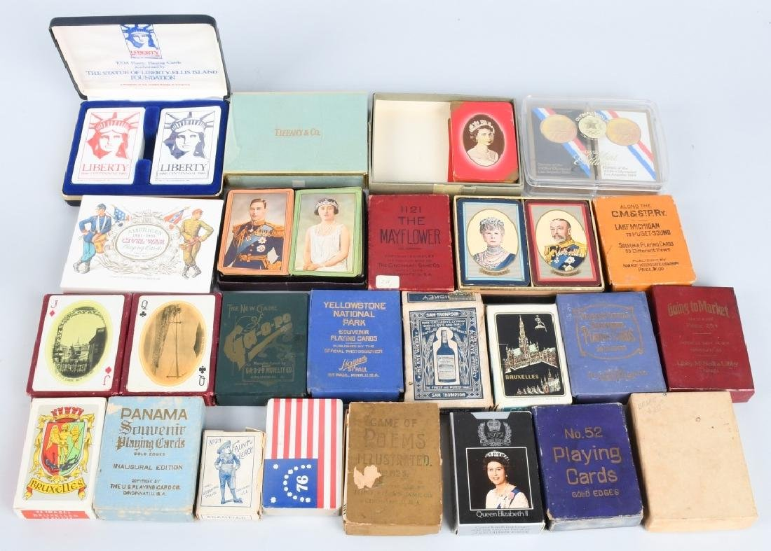 25- DECKS OF SOUVENIR PLAYING CARDS