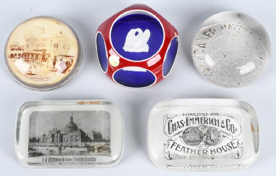 COLUMBIAN EXPOSITION PAPER WEIGHTS & MORE