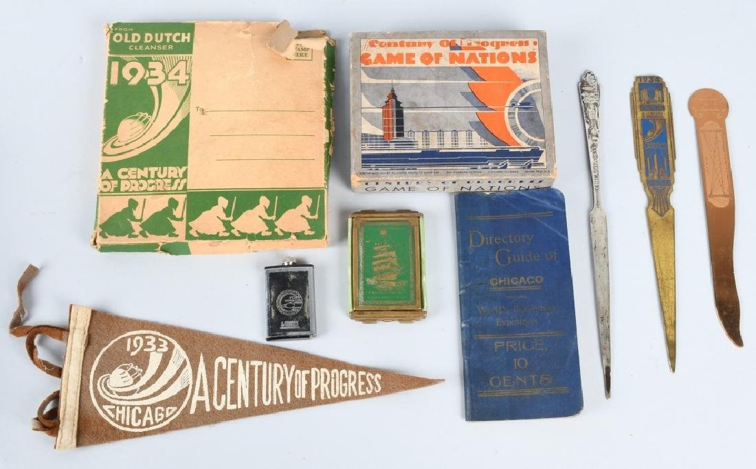 1933 CHICAHO WORLDS FAIR SOUVENIRS