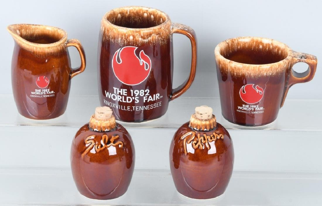 1982 WORLDS FAIR HULL POTTERY SET