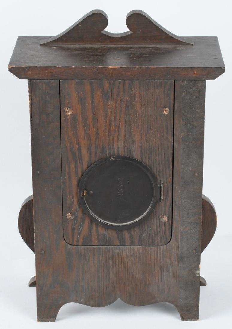 SESSIONS IONA 1908 ARTS & CRAFTS OAK CLOCK - 6