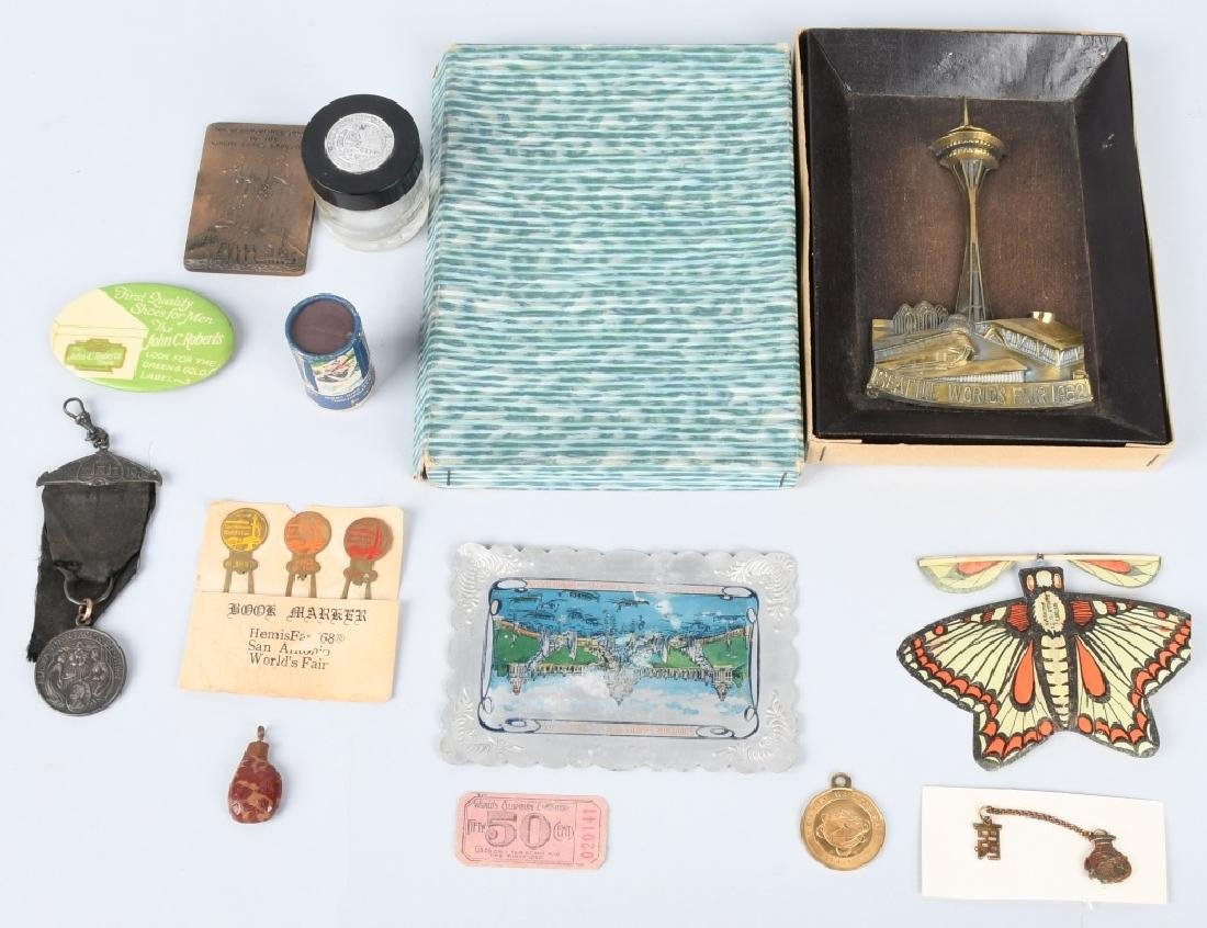 LOT OF WORLDS FAIR SOUVENIRS