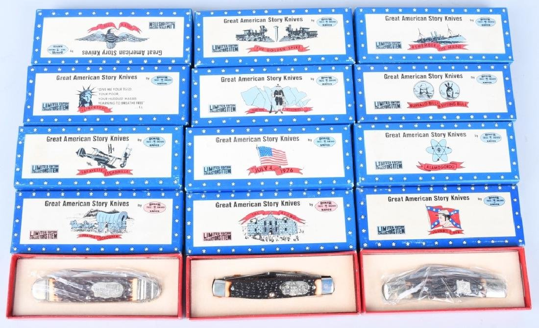 12- BOKER GREAT AMERICAN STORY KNIVES MIB