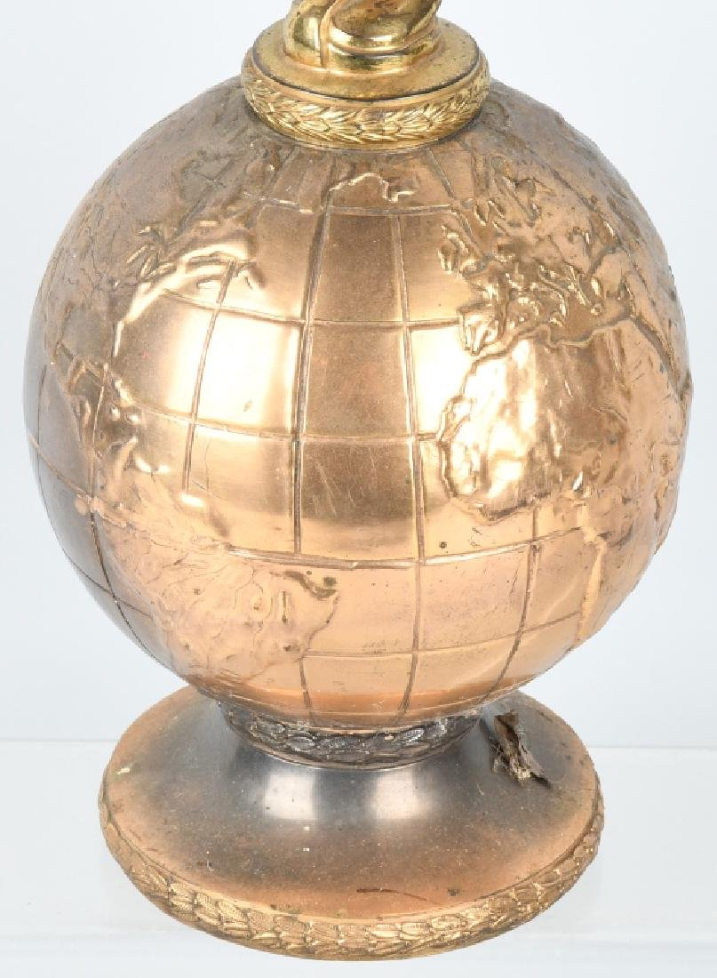 EARLY WINGED GODDESS ON GLOBE TROPHY - 3