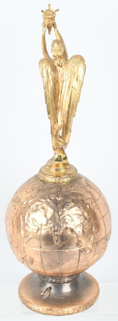EARLY WINGED GODDESS ON GLOBE TROPHY - 4