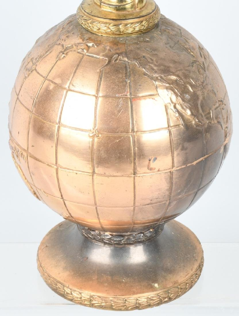 EARLY WINGED GODDESS ON GLOBE TROPHY - 6