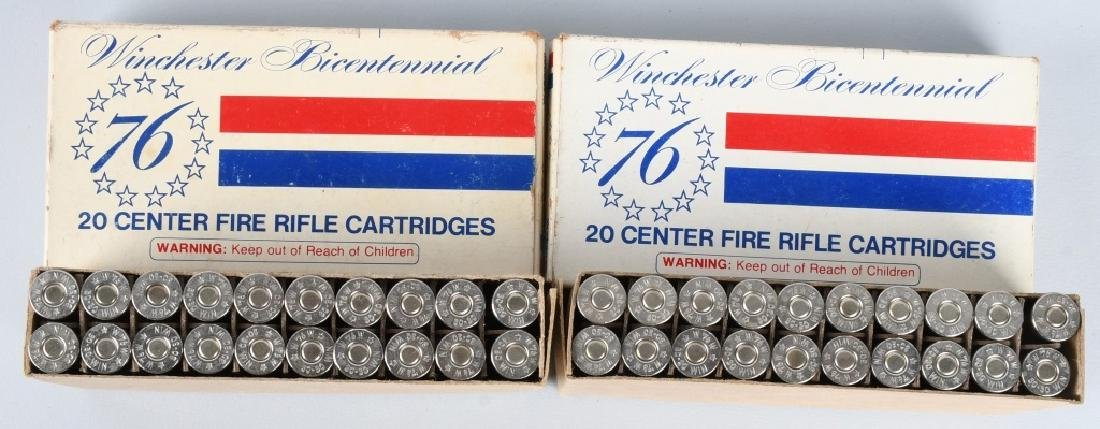 2- BOXES WINCHESTER 76 BICENTENNIAL 30-30 AMMO