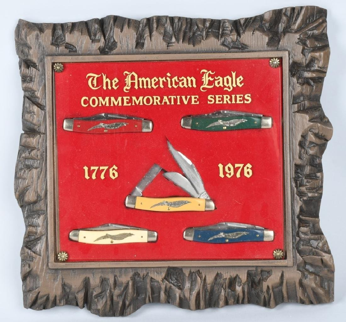 1976 AMERICAN EAGLE POCKET KNIFE SET