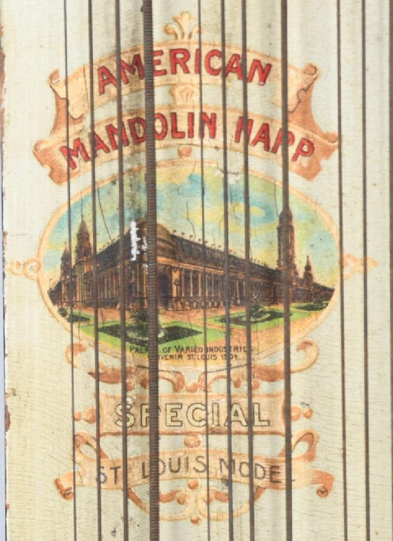 1904 ST LOUIS WORLDS FAIR AMERICAN MANDOLIN HARP - 2