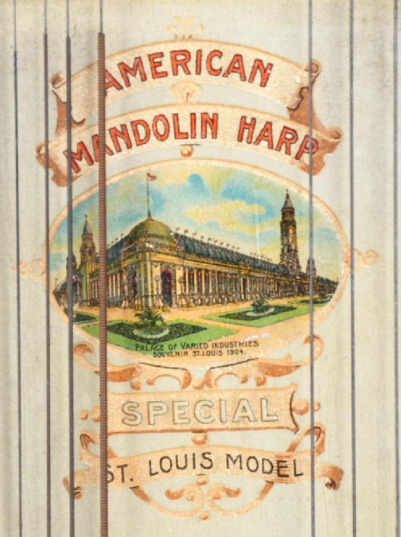 1904 ST LOUIS WORLDS FAIR O SCHMIDT MANDOLIN HARP - 2