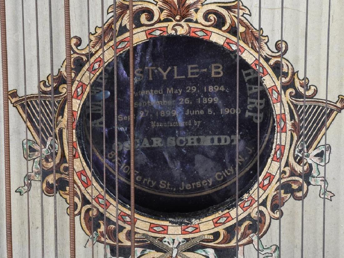 1904 ST LOUIS WORLDS FAIR O SCHMIDT MANDOLIN HARP - 4