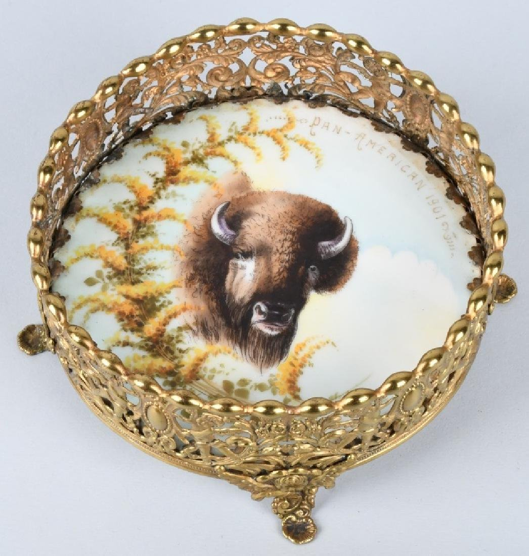 1901 PAN AMERICAN BUFFALO LIMOGES BOWL