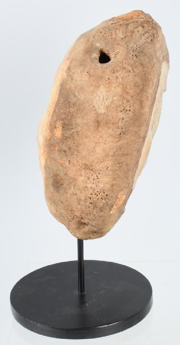 INUIT WHALE BONE DOUBLE FACE CARVING - 3