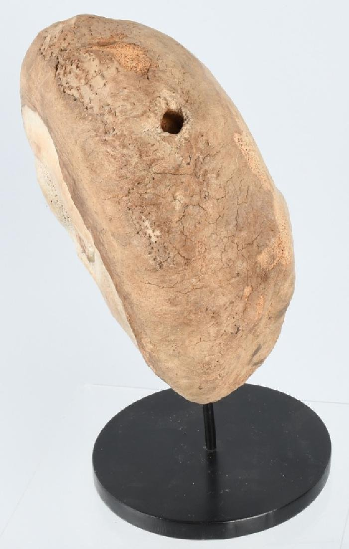 INUIT WHALE BONE DOUBLE FACE CARVING - 6