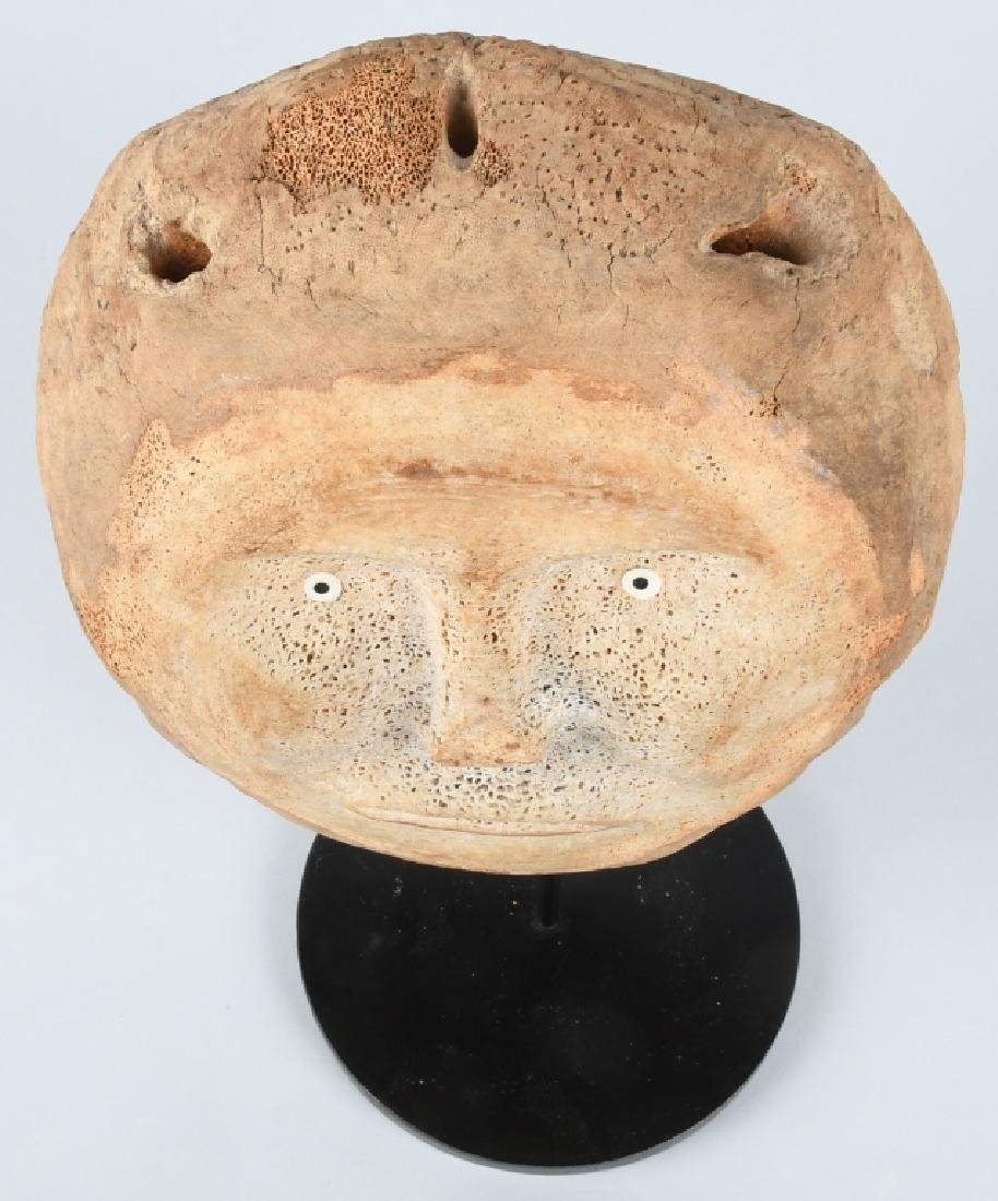 INUIT WHALE BONE DOUBLE FACE CARVING - 7