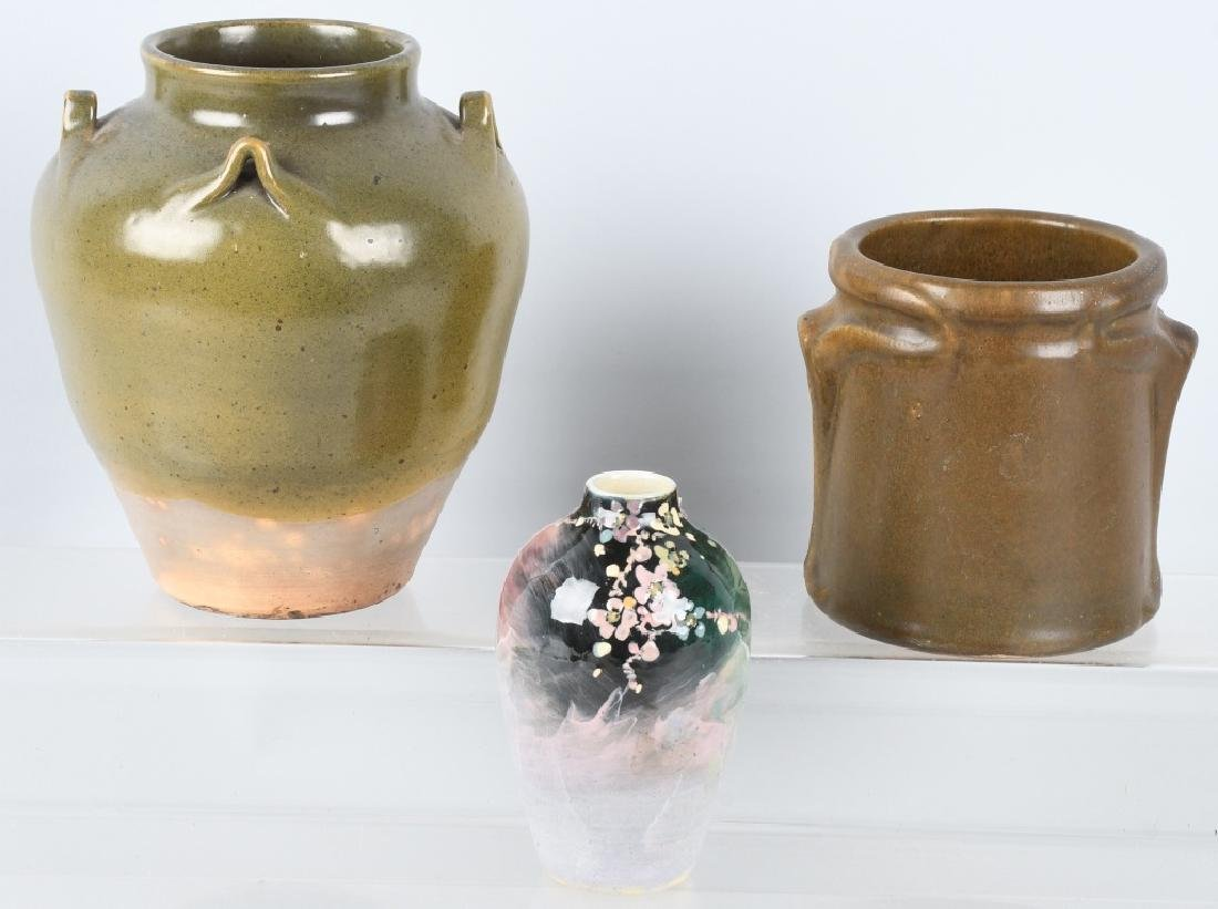 3-POTERY VASES, JUGTOWN & MORE
