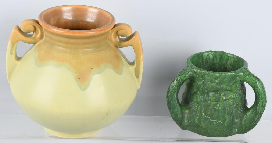 2-HANDLED POTTERY VASES, OWENS & MORE