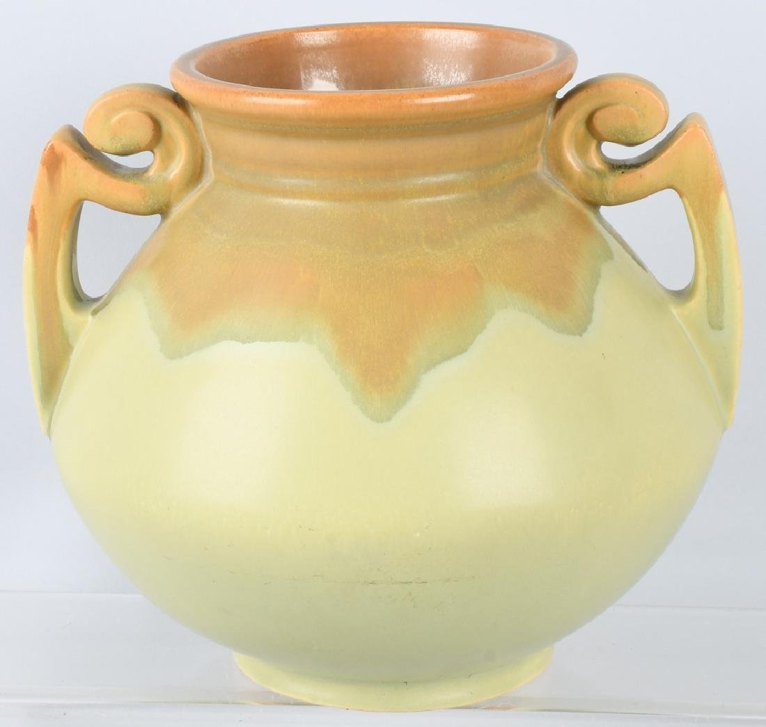 2-HANDLED POTTERY VASES, OWENS & MORE - 3