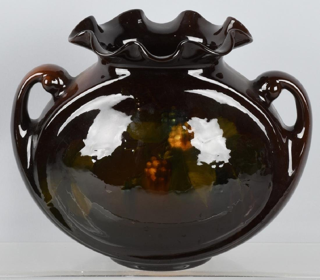 ROSEVILLE ROZANE HANDLED BEAN POT VASE
