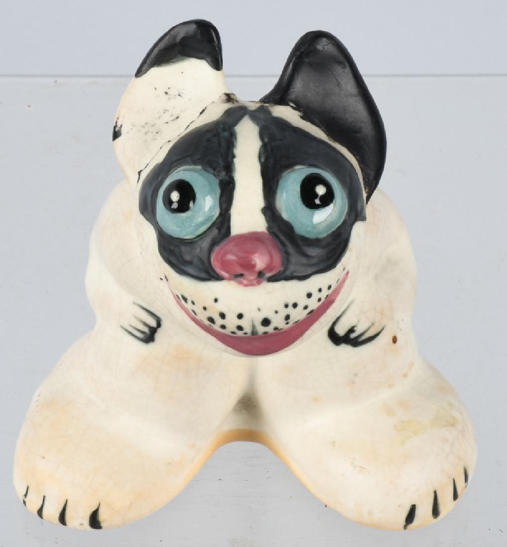 WELLER POPEYED DOG FIGURINE