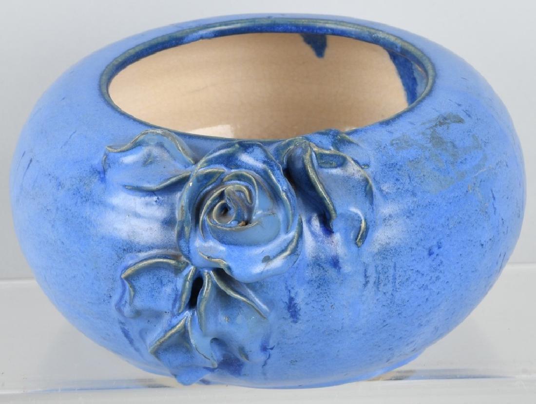 FULPER POTTERY BLUE ROSE BOWL