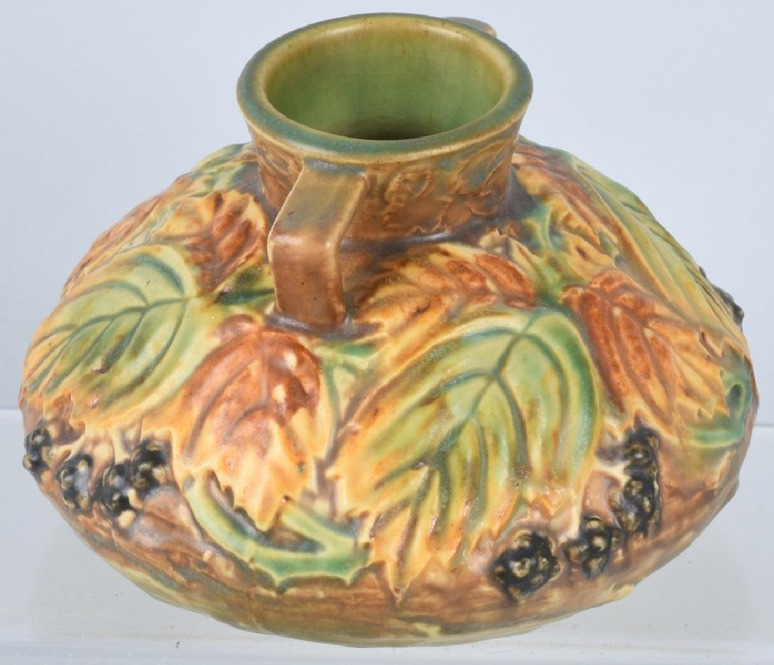ROSEVILLE BLACKBERRY HANDLED VASE - 2
