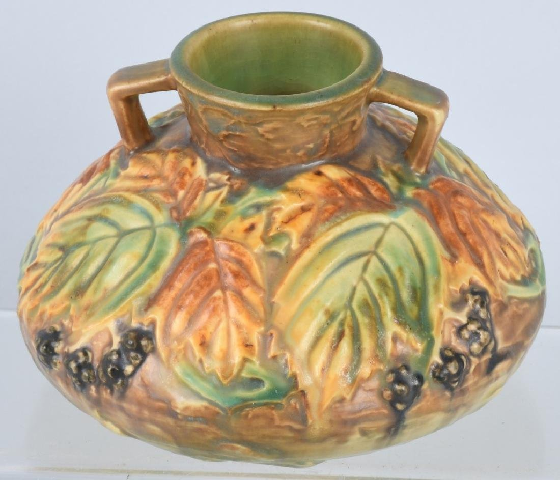 ROSEVILLE BLACKBERRY HANDLED VASE - 3