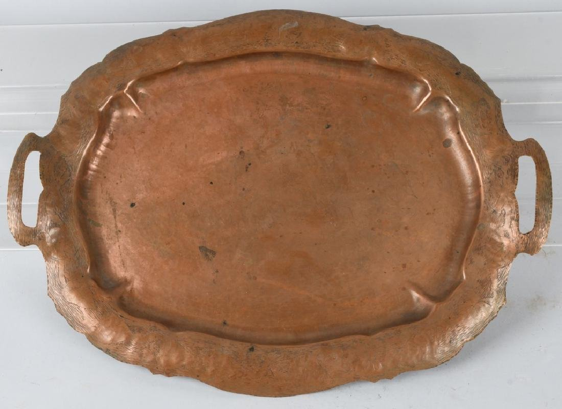 ARTS & CRAFTS COPPER SERVING TRAY, POHLMANN